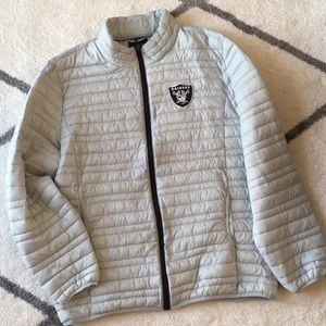 Official NFL Oakland Raiders light grey jacket XL